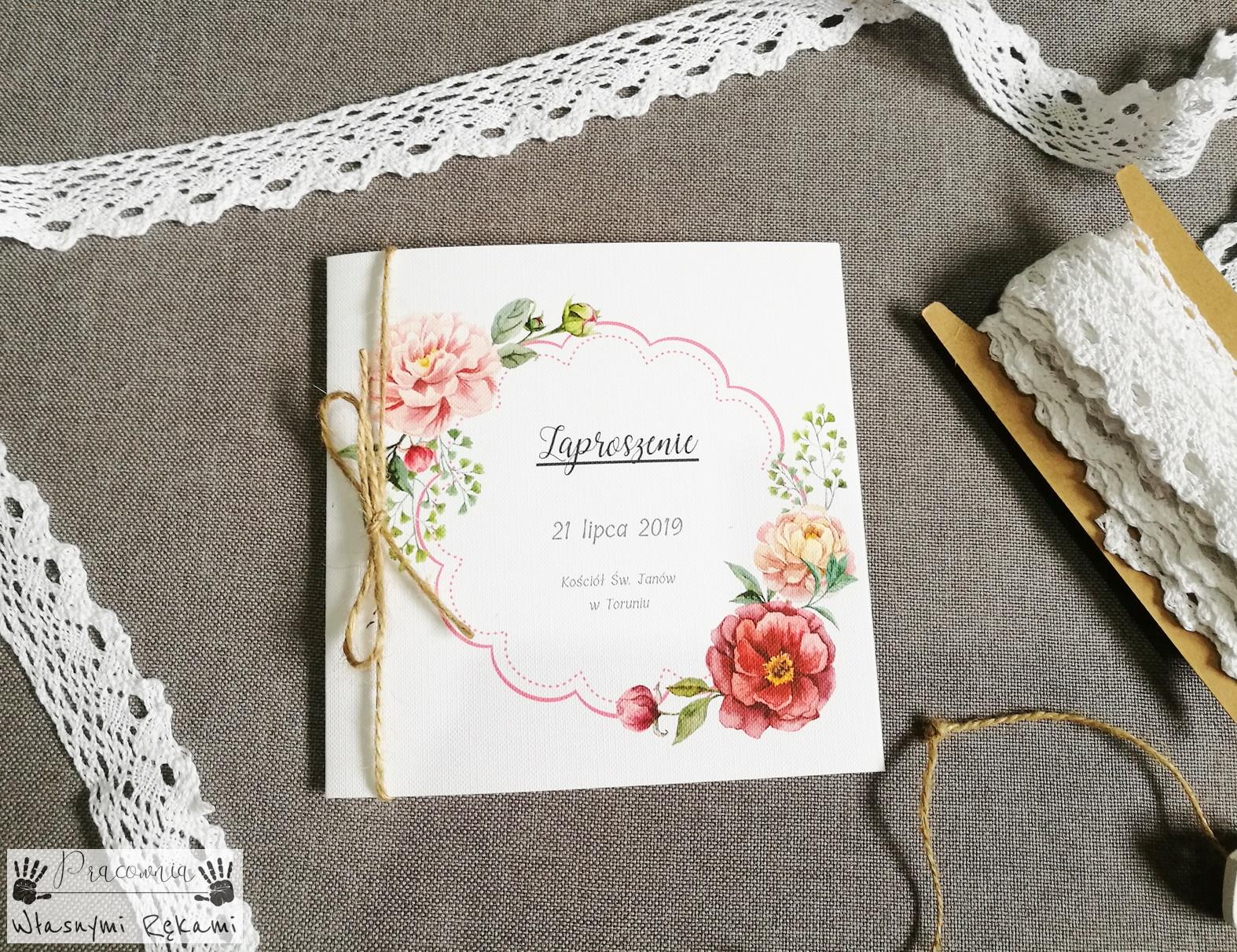 Zaproszenia ślubne Akwarele Vintage Pracownia Własnymi Rękami