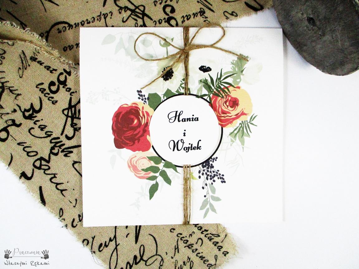 Zaproszenia ślubne Vintage Pracownia Własnymi Rękami
