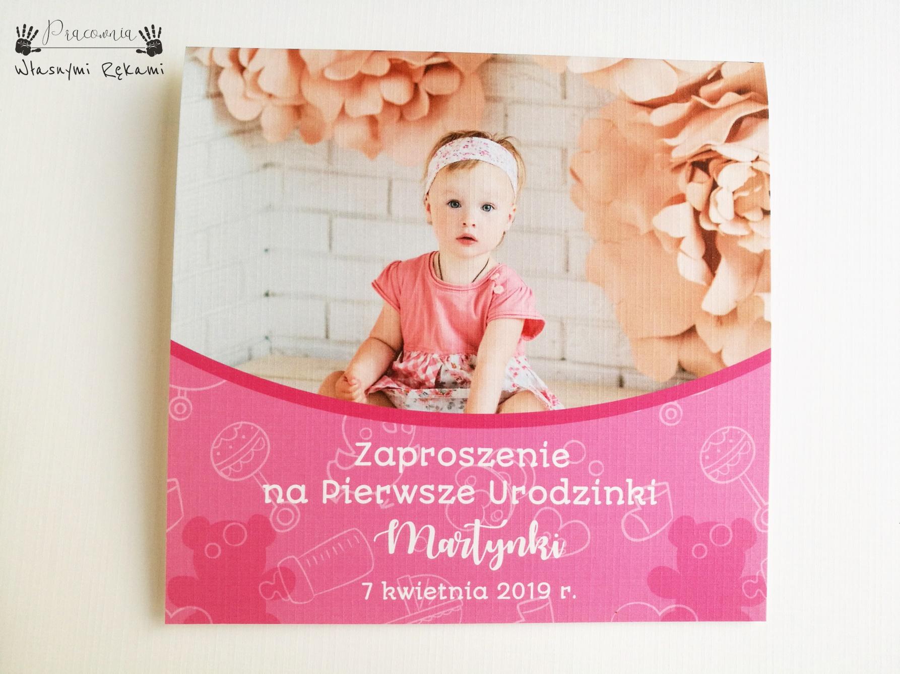 Zaproszenie Ze Zdjęciem Dziecka Pracownia Własnymi Rękami